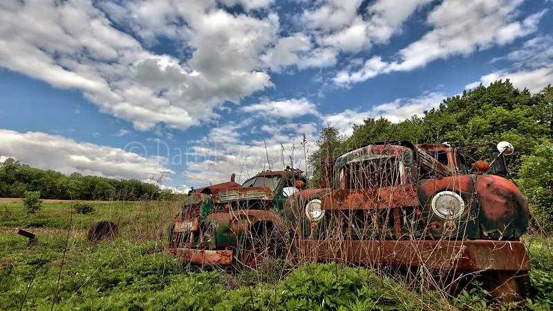 Vintage Rusty Mack Trucks