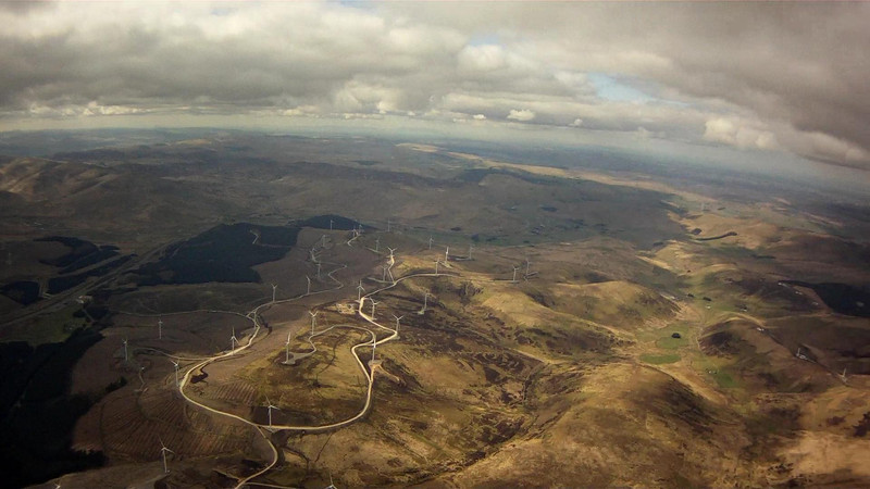 One of the many windfarms.