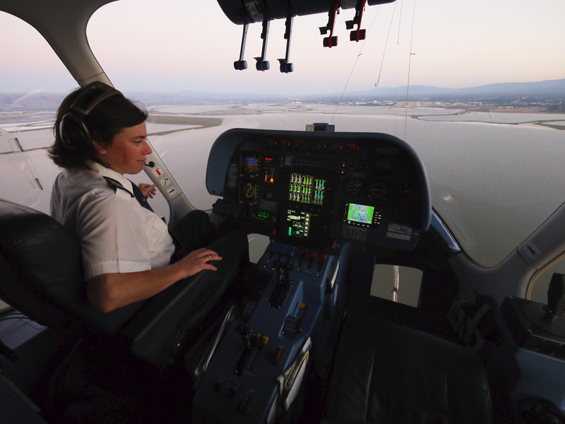Our pilot getting ready to start bringing the airship in.