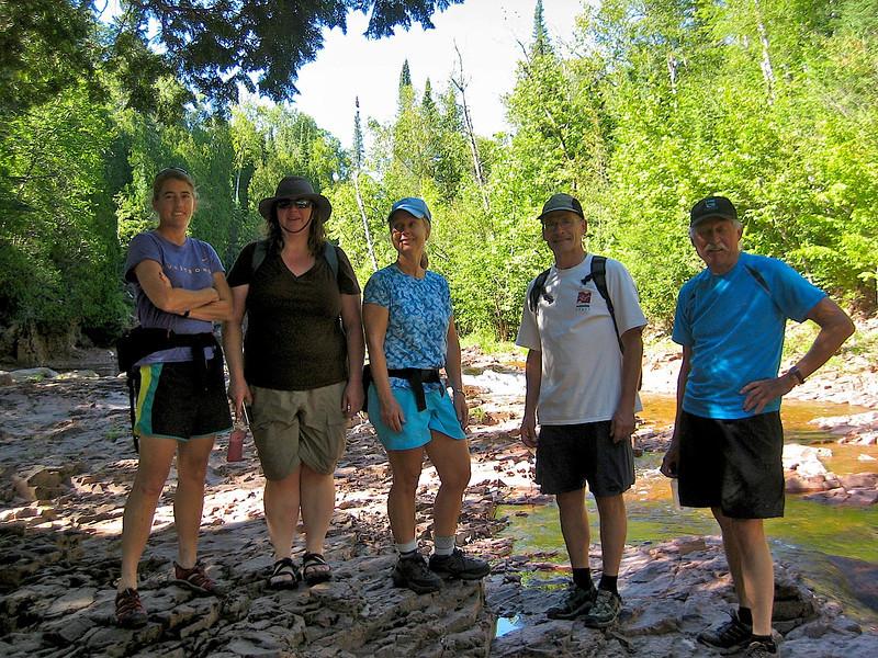 The hiking crew at Split Rock River Sunday afternoon. Venke Rosie Beth Lauren Doug