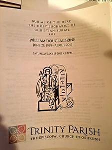 2019 05 18: Oshkosh, Wisconsin; Uncle Bill's Funeral, Holy Trinity Episcopal