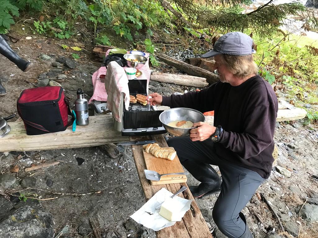 Kayaking Vancouver Island - Camp Kitchen - Lina Stock