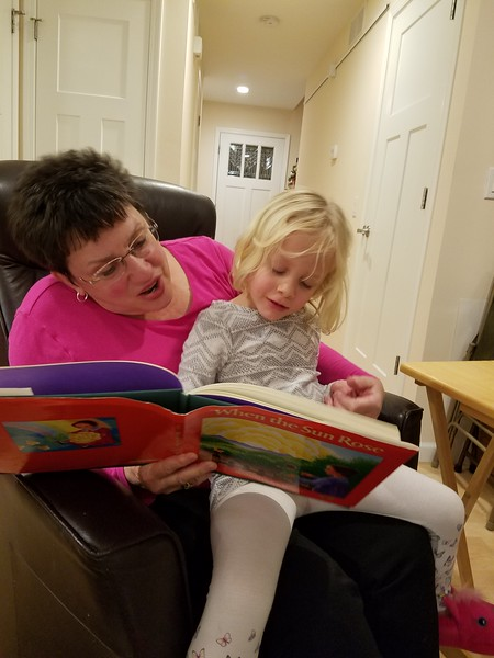 Great Aunt Beth reads to Ruth