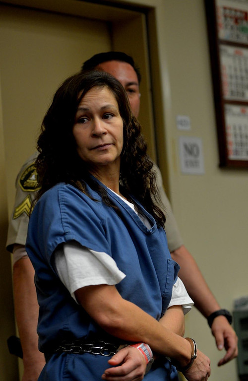 . Andrea Cardosa, 40, a former teacher accused of molesting a student  was arraigned today at the Riverside Superior Court  on Friday, March 7, 2014 in Riverside. The arraignment was postponed until April 18, 2014.Photo by LaFonzo Carter/The Sun