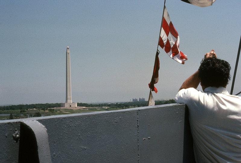 Dad on the USS Texas bridge