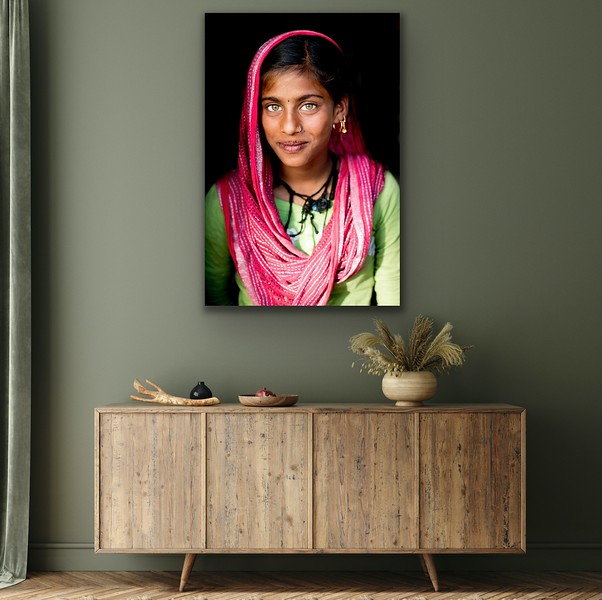 'Rajasthani Beauty' Canvas Wrap or Float Mount Metal Print