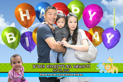 Isabell Kennedy's 1st Birthday (Green Screen Party Portraits)