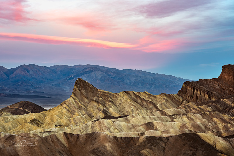 Manly Beacon Peak/Zabriskie Point Sunrise, Death Valley