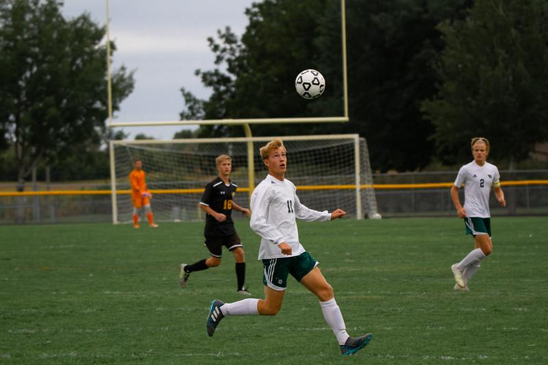 Holy Family Boys Varsity Soccer vs. Hutchinson, 9/26/19: Bishop Schugel '21 (11)