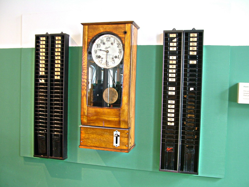Time Clock at Boott Mills