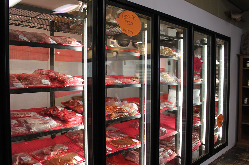 Cajun meat market refrigerated section