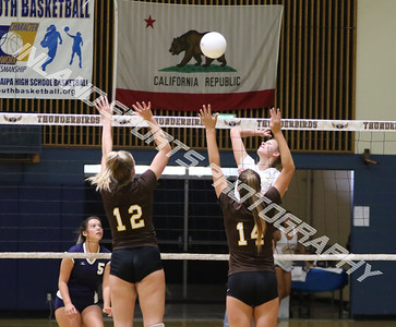 Yucaipa vs Temecula Valley girls JV volleyball 2017