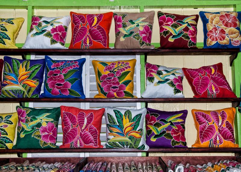 Beautiful products at the batik house.