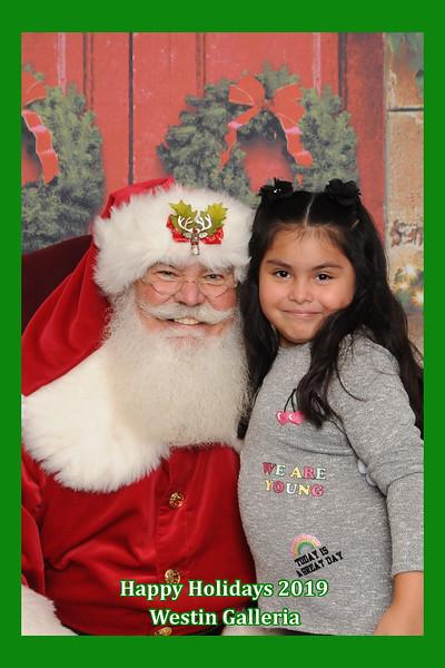 Westin Galleria Employee Santa Photos 2019