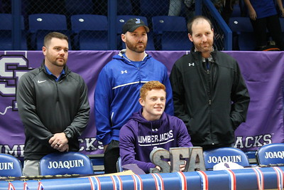 Connor Bragg signs SFA Track & Field Scholarship