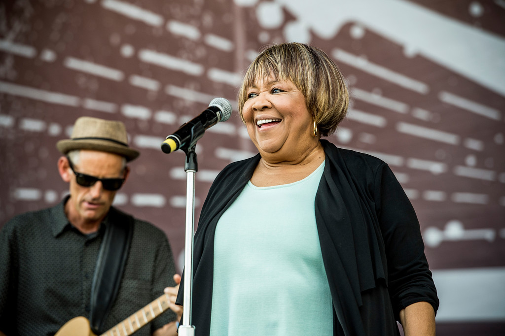 . Mavis Staples performs at the Pilgrimage Music and Cultural Festival on Sunday, Sept. 24, 2017, in Franklin, Tenn. Staples is the special guest when Bob Dylan performs at EJ Thomas Hall in Akron on Nov. 3. For more information, visit www.uakron.edu/ej/events/#!view/event/date/20171103/event_id/6768. (Photo by Amy Harris/Invision/AP)