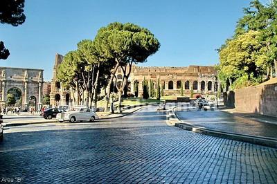ROME - PRINCIPAL MONUMENTS & RUINS (W/ SURROUNDING CITY EXTERIORS
