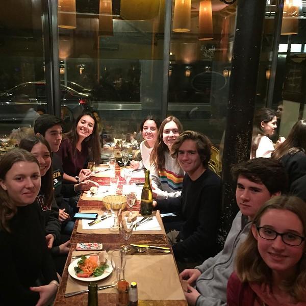 First night dinner in Paris ooh la la