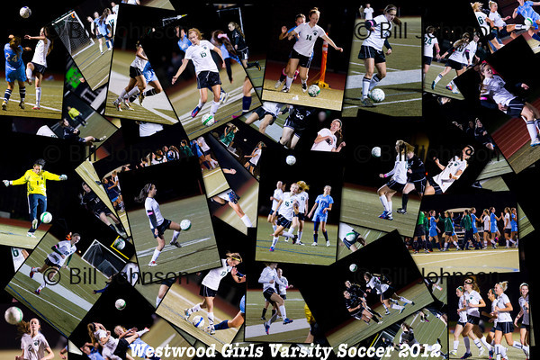 Westwood Girls Soccer Collages 2012