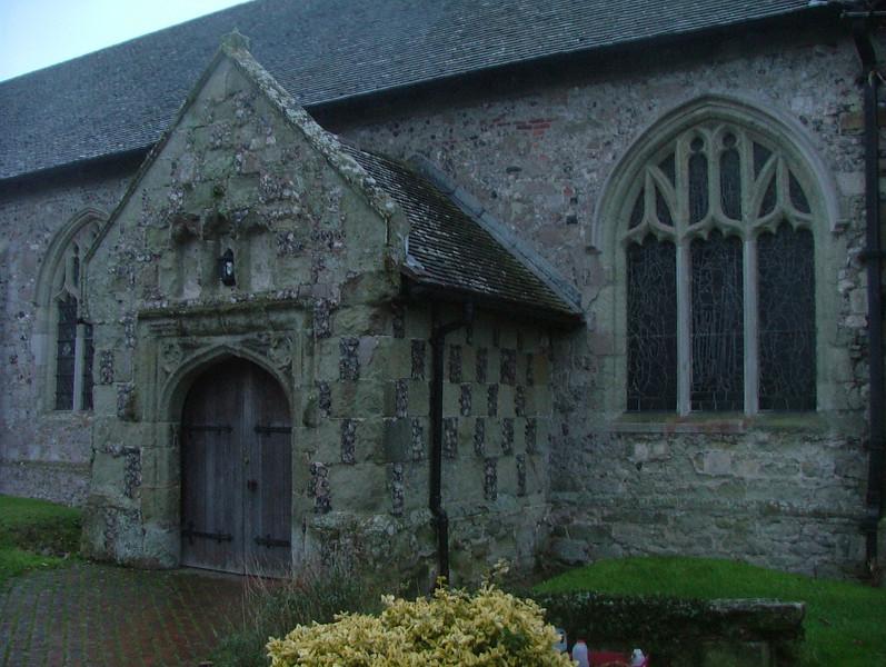 Entrance to Norman Church