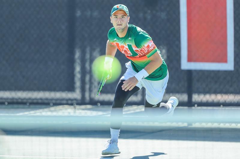 University of Miami Mens Tennis vs. FAU, 2019