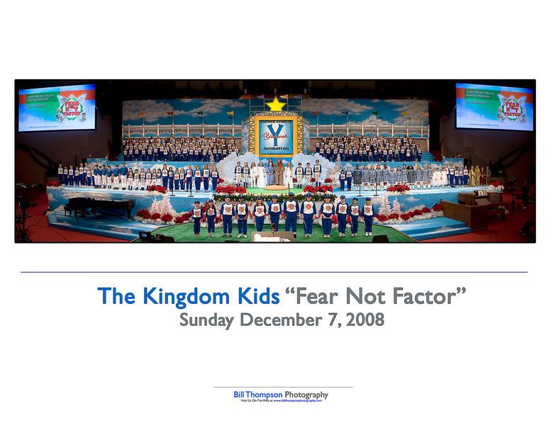 2008 KINGDOM KIDS FEAR NOT FACTOR 10X8 ART CARD
