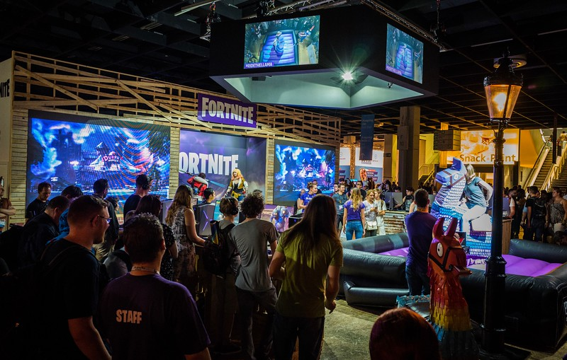 Fortnite booth at Gamescom 2017