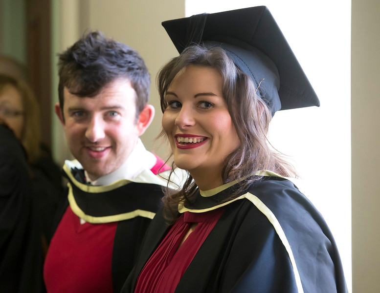 Waterford Institute Of Technology Conferring. Pictured at WIT Waterford Institute Of Technology Conferring are Emmett Hughes Kilkenny and Niamh O'Loughlin, Clare who graduated Master of Arts in Exercise and Sport Psychology. Picture: Patrick Browne
