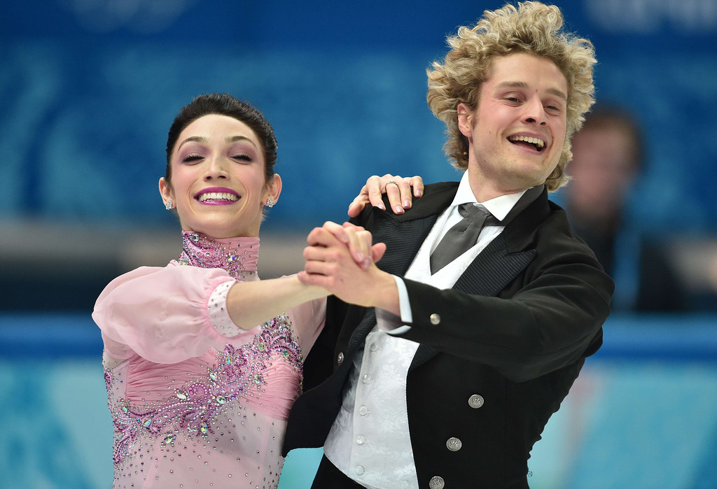 . US Meryl Davis and US Charlie White perform in the Figure Skating Ice Dance Short Dance at the Iceberg Skating Palace during the Sochi Winter Olympics on February 16, 2014.    DAMIEN MEYER/AFP/Getty Images