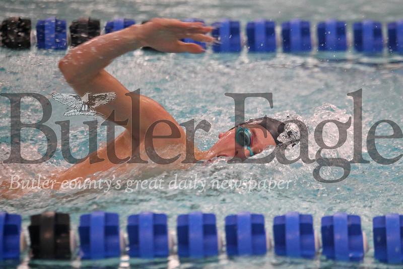 Seneca's Daniel Simoes, 200 Freestyle vs Butler 02/13/19 Seb Foltz/Butler Eagle