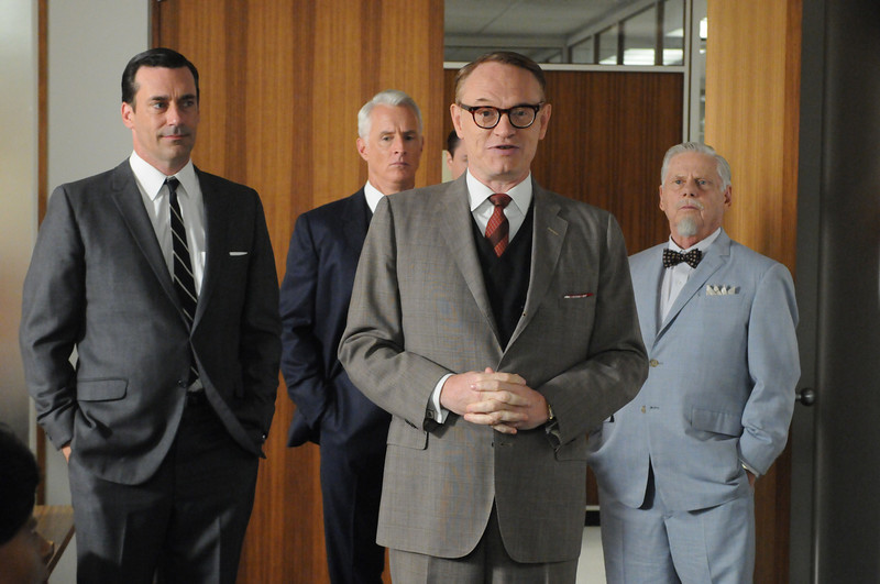 . 1. �Mad Men� (AMC) � Good enough to withstand line-by-line, scene-by-scene critiques through five seasons so far, this 1960s tragedy about the American dream was particularly rich in social-sexual commentary this year. Creator Matt Weiner demonstrated a sure hand as the story drilled deeper into familial dysfunction and personal secrets. Pictured: Don Draper (Jon Hamm), Roger Sterling (John Slattery), Lane Pryce (Jared Harris) and Bertram Cooper (Robert Morse) - Photo Credit: Michael Yarish/AMC.