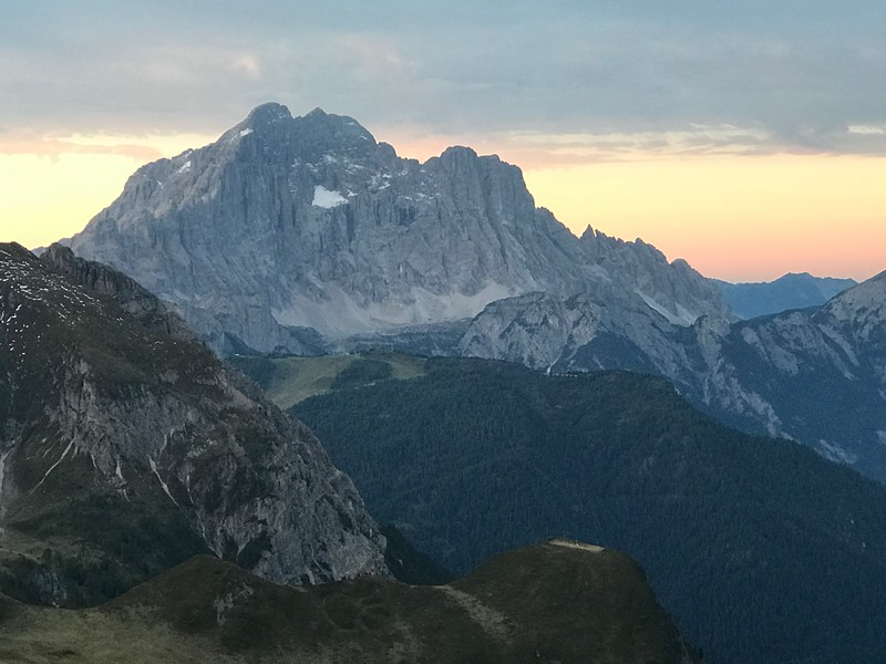 View from our deck at Rifugio Averau