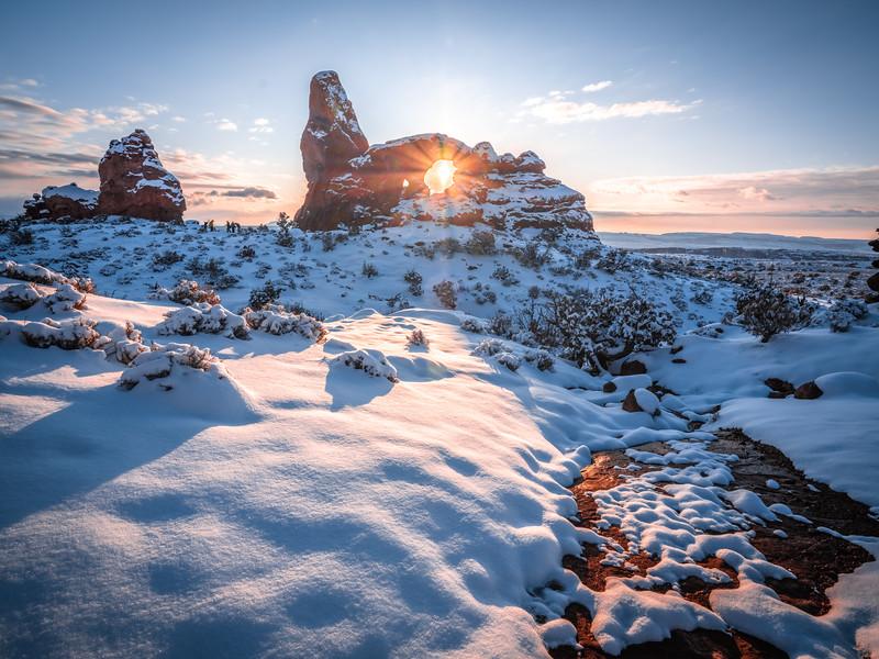 The Eye of Winter: Arches National Park Fuji GFX100 Elliot McGucken Medium Format Fine Art Landscape Nature Photography