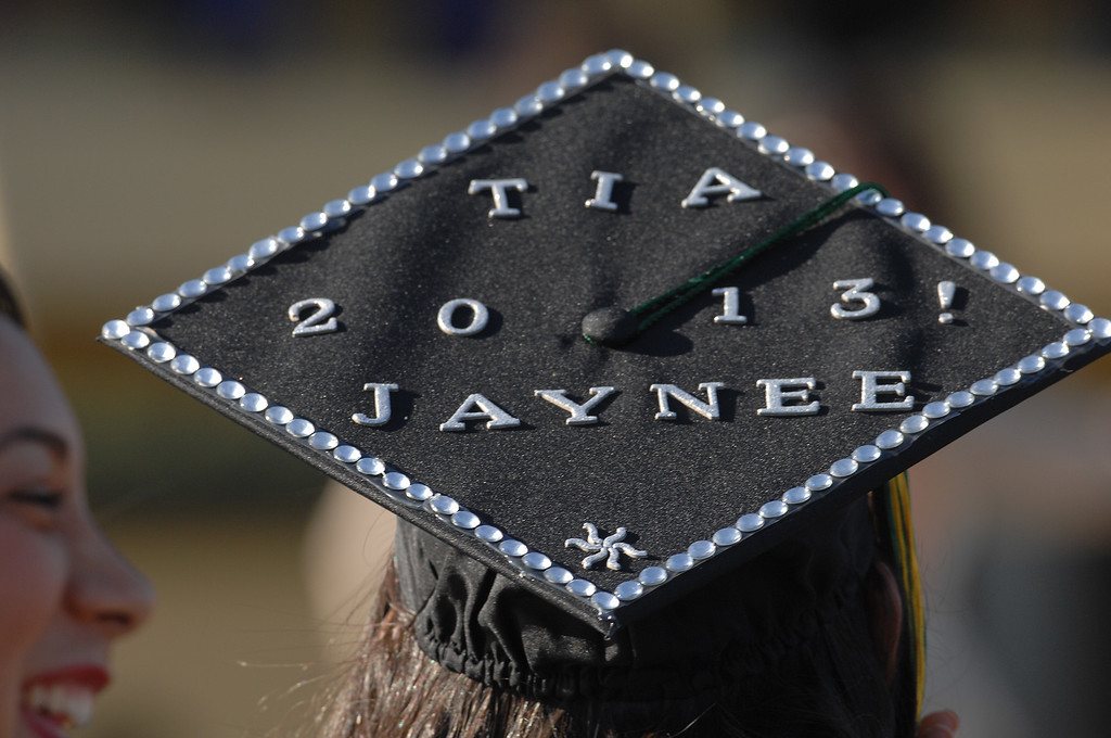 . Students at Valley College receiving a variety of Associates Degrees and Degrees in Nursing participated in commencement exercises at the Valley College Stadium. Valley Glen, CA 6/5/2013(John McCoy/LA Daily News)