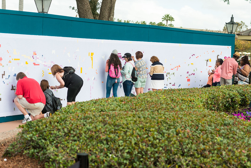 Painted Wall - Epcot International Festival of the Arts 2017