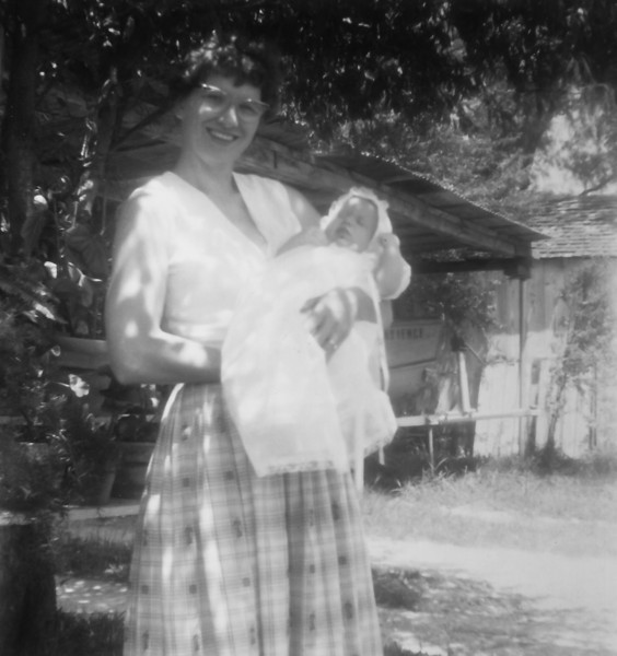 Maria Smock with Phyllis Margaret Smith July 1960