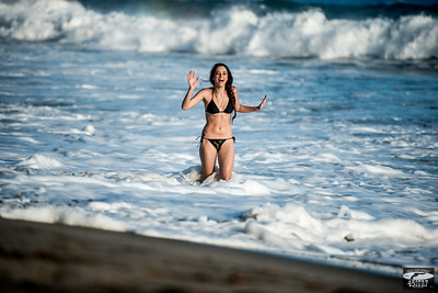 Nikon D800E Beautiful Swimsuit Bikini Model Goddess!  Nikon AF-S NIKKOR 70-200mm f/2.8G ED VR II Lens!