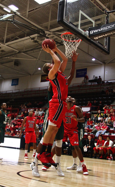 freshman Corey Hensley was able to enjoy some court time and even score a couple baskets for the Runnin Bulldogs.  Photo by Bryan Cooper