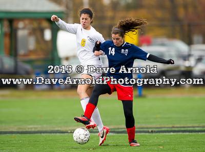 11/3/2013 - Girls Varsity Soccer -MIAA D1 South R1 - Bridgewater-Raynham vs Needham