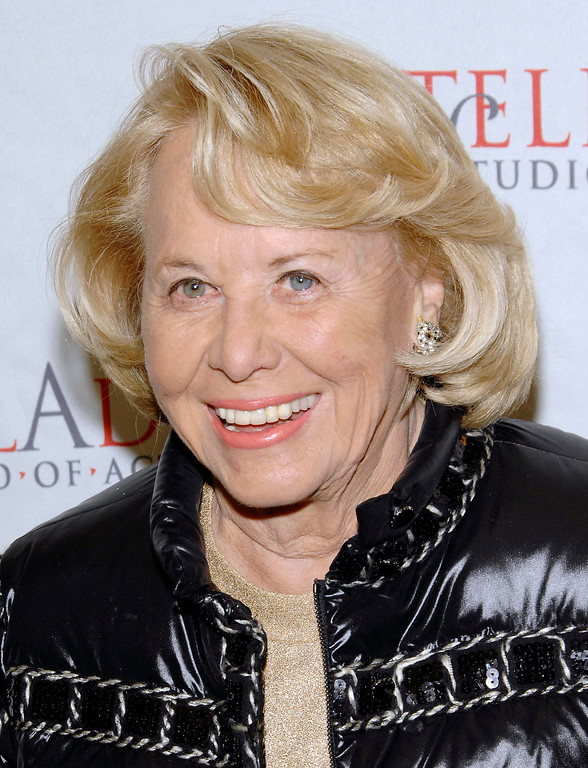 . FILE- In this March 17, 2008, file photo, gossip columnist Liz Smith attends the 4th Annual Stella by Starlight benefit in New York. Smith, whose mixture of banter, barbs, and bon mots about the glitterati helped her climb the A-list as high as many of the celebrities she covered, has died. Literary agent Joni Evans told The Associated Press she died in New York on Sunday, Nov. 12, 2017. She was 94. (AP Photo/Evan Agostini, File)