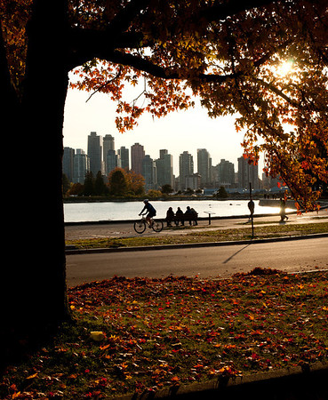 Vancouver on a sunny fall day