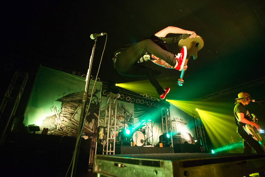 Jaime Preciado of Pierce The Veil jumping