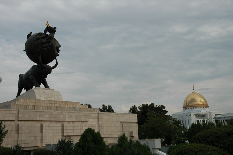 Earthquake Memorial and President's House - Ashgabat, Turkmenistan