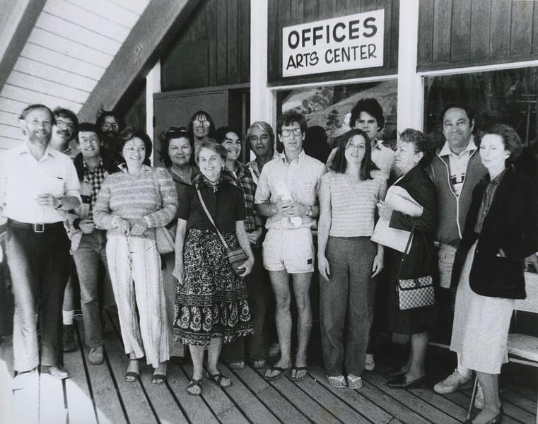 1982 - group photo 1 - outside arts center - Workshop #1.jpeg