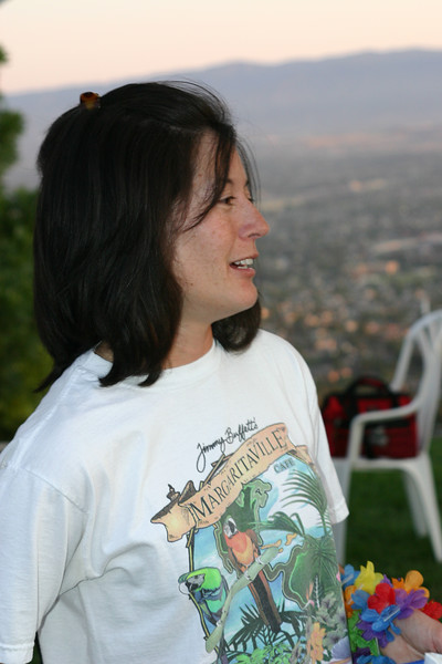 Jennifer dug this actual Jimmy Buffet Margaritaville t-shirt out of the depths of her closet for this event.