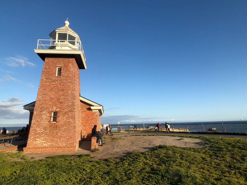 The Mark Abbott Memorial Lighthouse Museum iwhich houses the Santa Cruz surfing museum, on Lighthouse Point on West Cliff Drive
