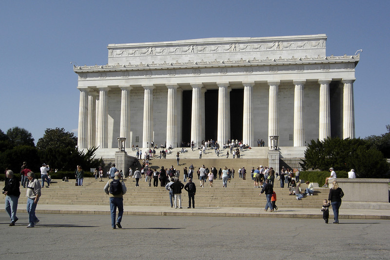 Closer to the Lincoln Memorial