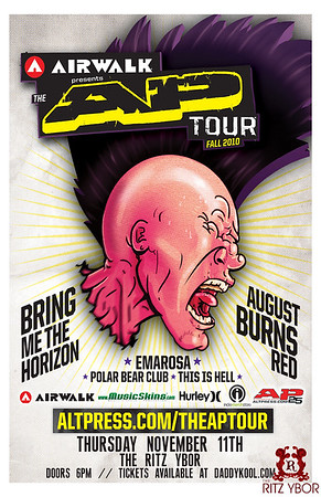 """The AP Tour"" Bring Me The Horizon / August Burns Red November 11, 2010"