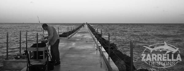 """""""Never Too Late to Fish"""" (Dania Beach, Florida)"""