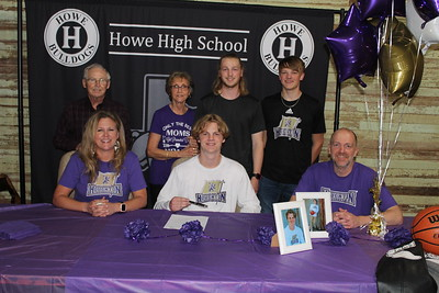 Noah Campbell signs with Houghton College, 4/29/2021